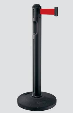 屋外用ベルトリールパーティション 再生ゴムタイプ(注水不要) ブラック/レッド