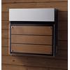郵便ポスト FASUSフェイサス フラットタイプ ウッド+クリアガラス調 CTC2004MD