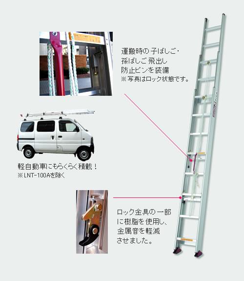 サヤ管式3連はしご コンパクト3 LNT-60A/環境生活