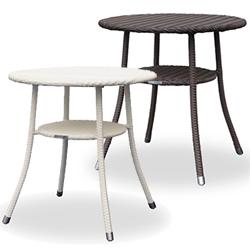【10/31まで特価セール】リゾート風 全天候型ファニチャー RAUCORD(ラウコード) AMALFI DINING TABLE ダイニングテーブル 700mm 丸型