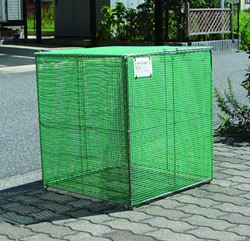 サビに強いステンレス枠ゴミステーション 折りたたみ式ごみ収集ボックス K-60 幅600×奥行600×高さ650mm