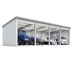 イナバ倉庫 SG 4棟タイプ 多雪型 トール