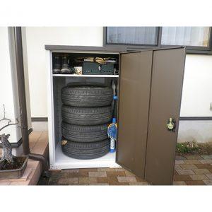 グリーンライフ物置 扉式タイヤ収納庫 TBT-132MBR