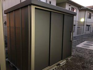 サンキン物置 SK8-100 一般地型 棚板なし 幅2296×奥行1745×高さ1940mm の施工事例 大分県T様