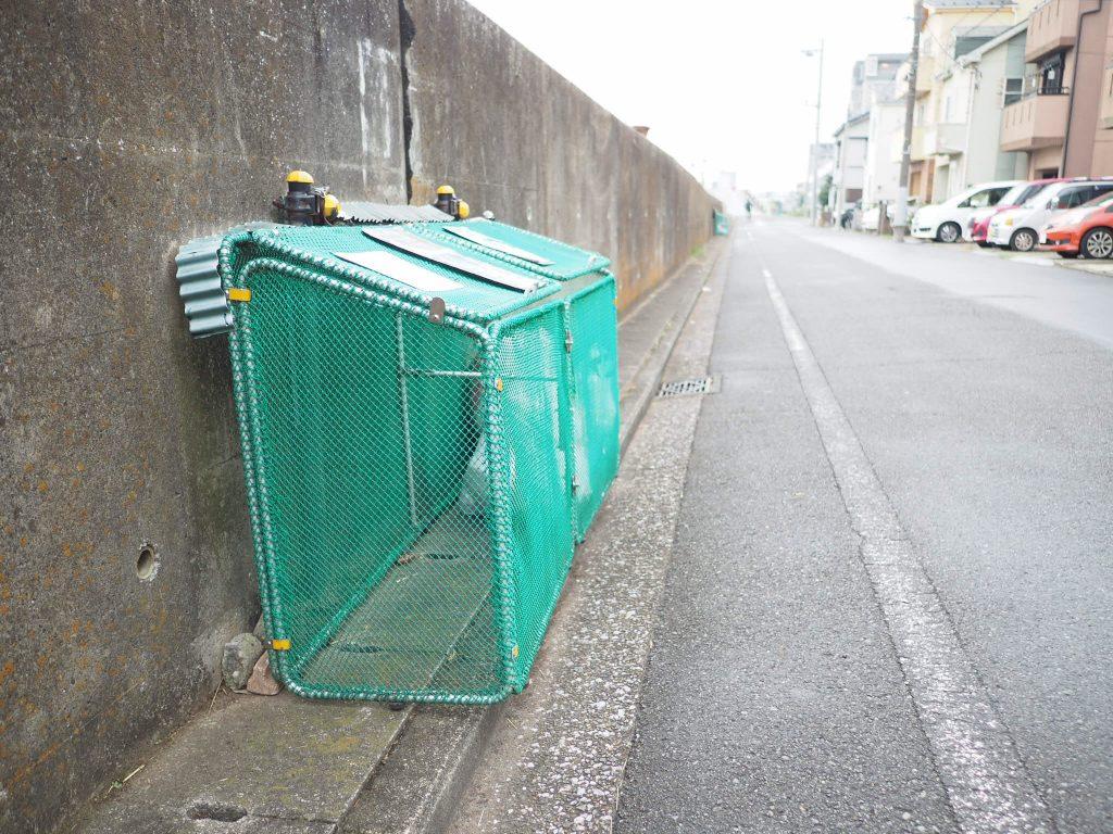 ゴミステーション 開いた状態