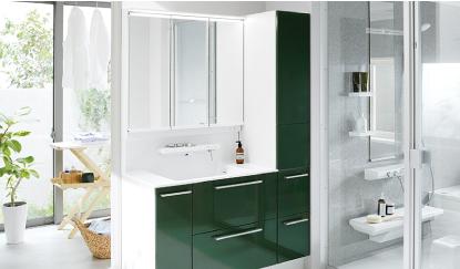 洗面所でのあらゆるシーンでいままでになく快適に使えるTOTO洗面化粧台