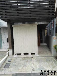 ダイケン物置ガーデンハウス DM-Z1717の施工事例