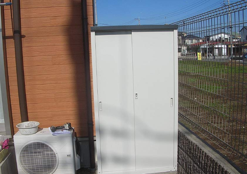グリーンライフ×環境生活】グリーンライフ物置 HS-162の施工事例