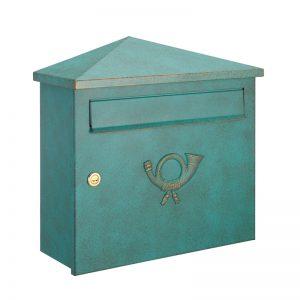 オンリーワン 郵便ポスト  クラシカルポスト XH シリンダー錠 グリーン/ゴールド MA1-64283014