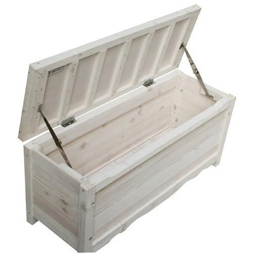 天然木 ボックスベンチ ホワイト