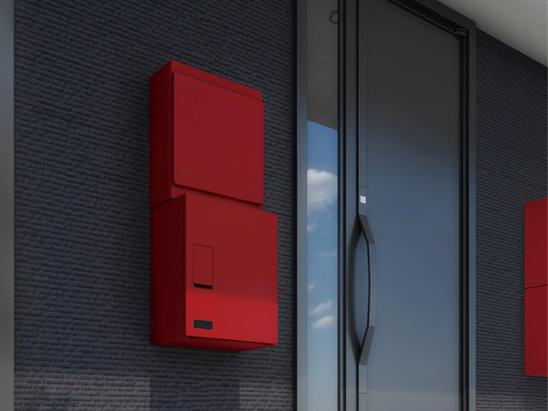 郵便ポスト ナスタ ポスト 壁付タイプ 大型郵便物対応 縦型可変プッシュボタン錠 KS-MB36F