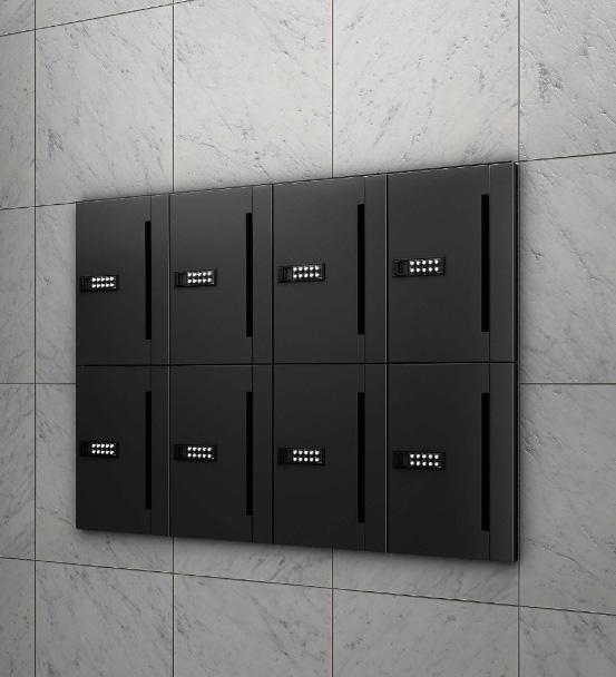 郵便ポスト ナスタ オフィスポスト 前入前出 D-ALL 可変プッシュボタン錠 ブラック KS-MB507S-PK-BKのご案内