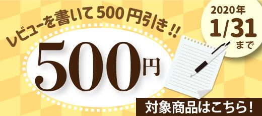 レビューを書いて500円引き!2020年1月31日まで
