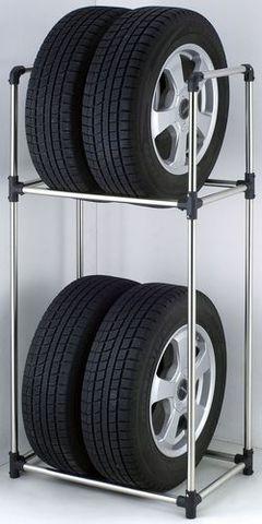 KNZ タイヤ収納ラックS(軽自動車タイヤ対応) 幅47×奥行31×高さ114.5cm ZZ[タイヤラック/タイヤ保管/タイヤラック スリム/タイヤラック DIY/タイヤラック 縦置き/軽自動車]
