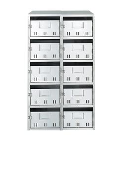 マンション 集合ポスト 【10戸用】ナスタ 公団型集合郵便受箱(SH型) 前入前出 10戸用 KS-MB10SH ※受注生産品