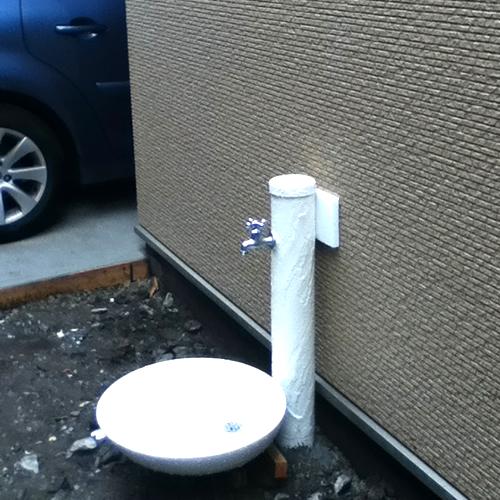 トーシン 水栓柱セット サガン ガーデンパントレビ丸 SC-SAG-IV_GPT-M-IV <神奈川県N様>