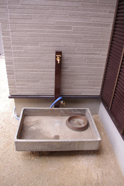 立水栓ユニット コロル(2色)の設置写真<愛知県S様>