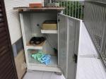 グリーンライフ物置 ドアタイプ家庭用収納庫(ハーフ棚板仕様)TB-102HT