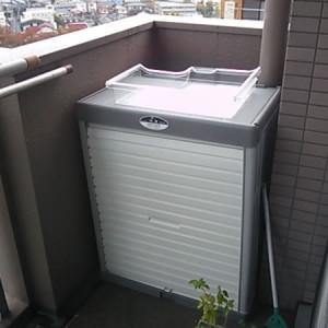 リッチェル プラスチック物置 8096Nの設置写真<川崎市S様>