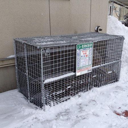 町内のゴミ収集庫用にGP-800Nの設置写真<青森県K様>