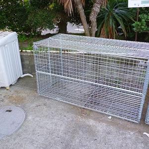 折畳ゴミ収集庫 リサイクルボックス GP-800Nの写真