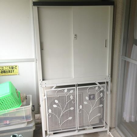 グリーンライフ エアコン室外機カバー+収納庫HS-92セット