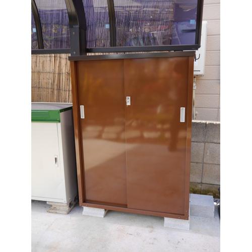 グリーンライフ ガーデン収納庫(ハーフ棚板仕様)120 ABN-120GD 幅880×奥行470×高さ1200mm ※お客様組立品