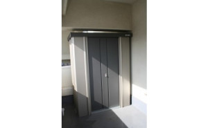 【お客様組立】【棚板なし】サンキン物置 SK7-35 一般地型の施工事例(東京都T様)