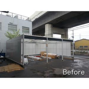 【お客様組立】ヨドガレージ ラヴィージュ VGB-2662H-3 一般地用・背高Hタイプ 3連棟の施工事例(埼玉県F様)