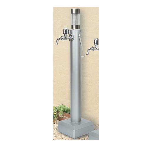 持ち運べる移動式丸型防寒水栓柱 水栓蛇口付き