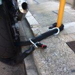 バイクのイタズラ・盗難防止にはチェーンによる地球ロックがお奨め 衣川製鎖工業製最強チェーン
