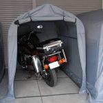 低予算でお薦め!小型タイプの駐輪場 バイクシェルターのご紹介