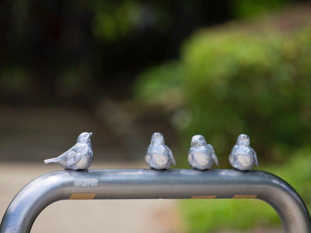 大阪城公園にあったサンポール製車止め「ピコリーノ」