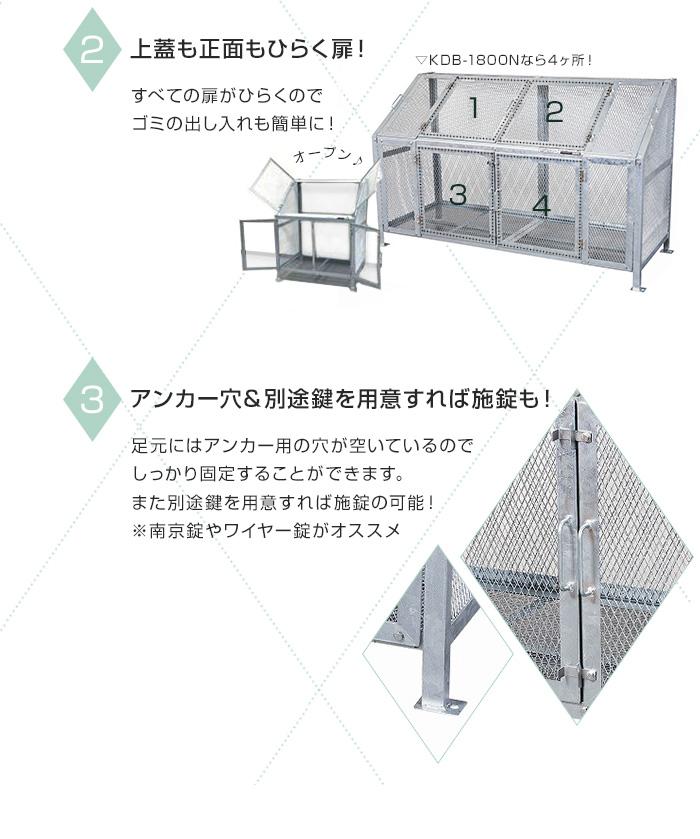グリーンライフ メッシュゴミ収集庫KDBシリーズ